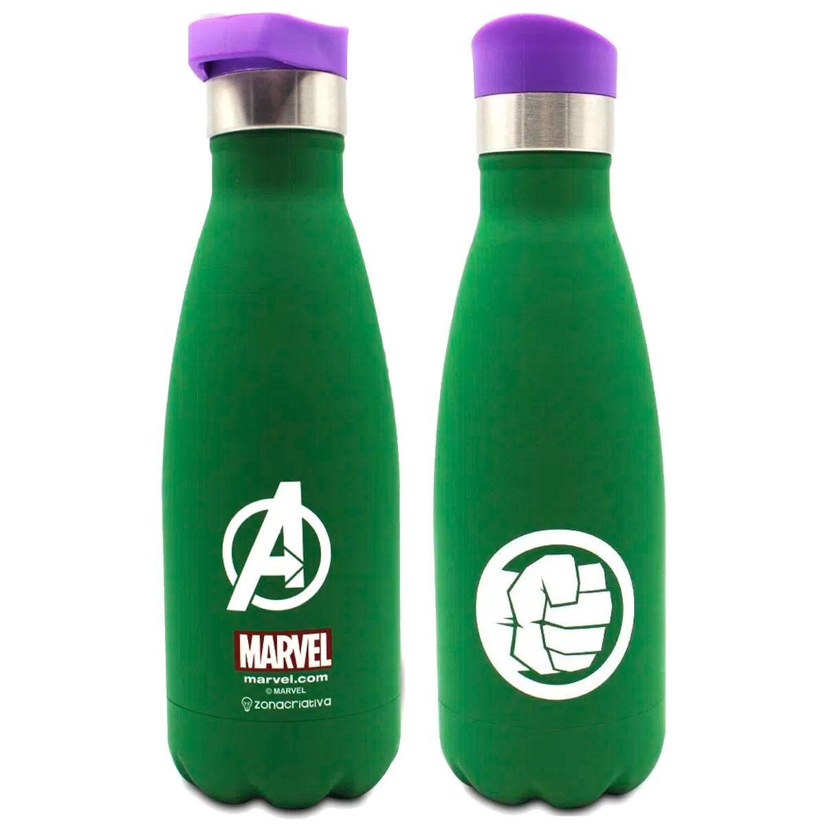 Garrafa Cantil Térmica Fosca Hulk 350 ml - Presente Super