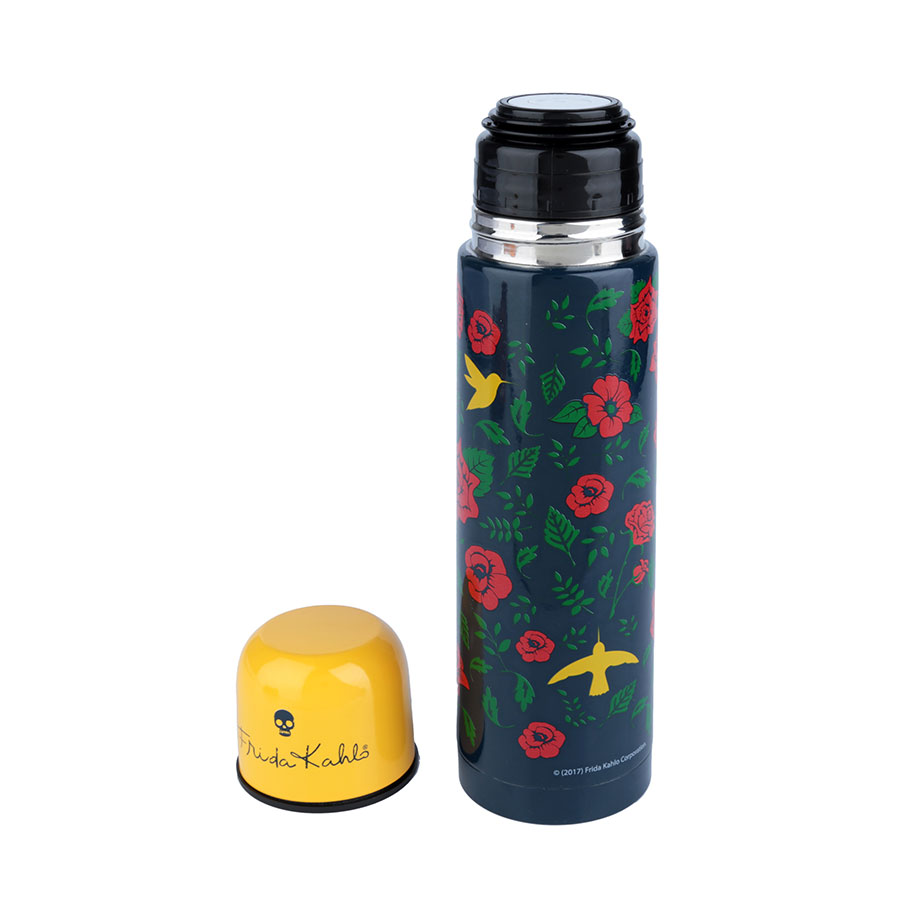 Garrafa Térmica Frida Kahlo 500 ml - Birds and Flowers