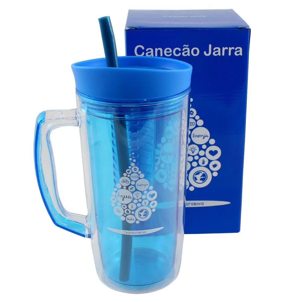 Jarra Canudo 1 litro com Infusor - Gota Água