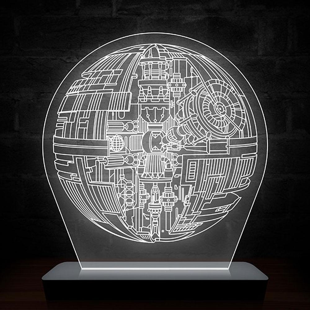 Luminária de LED Estrela - Star Wars