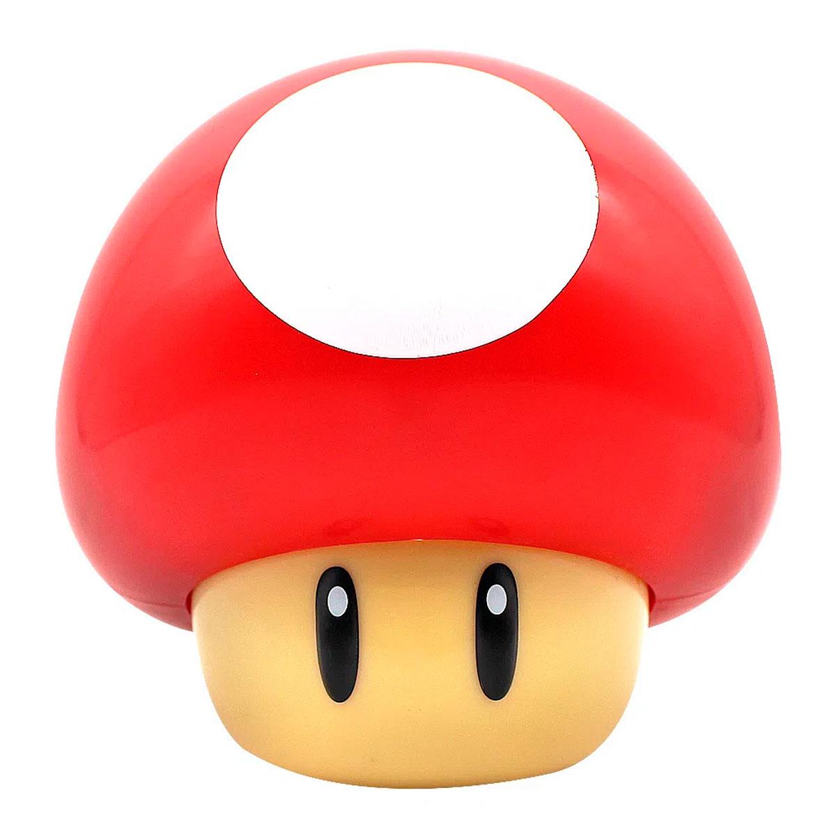 Luminária Mini Cogumelo Vermelho Super Mario Bros - Presente Super