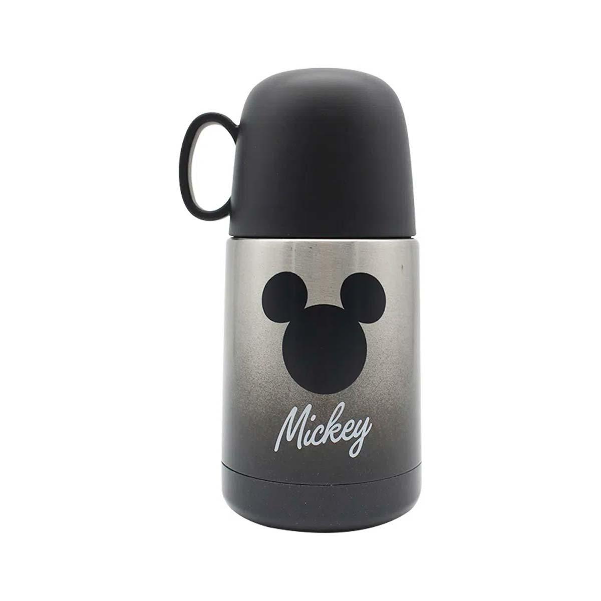 Mini Garrafa com Caneca Mickey Silhueta 210 ml - Presente Super