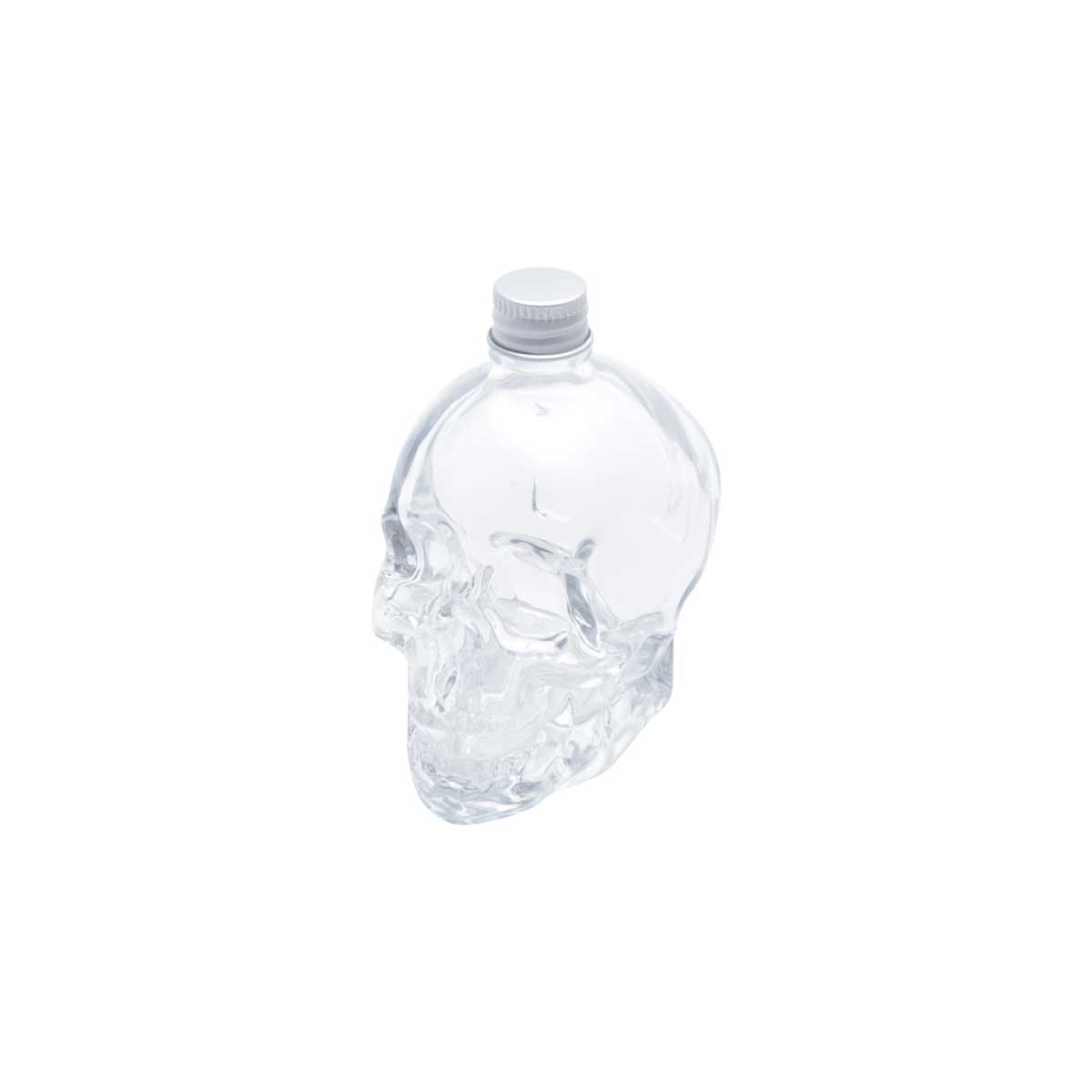 Mini Garrafa Vidro Crânio Caveira Transparente 120 ml