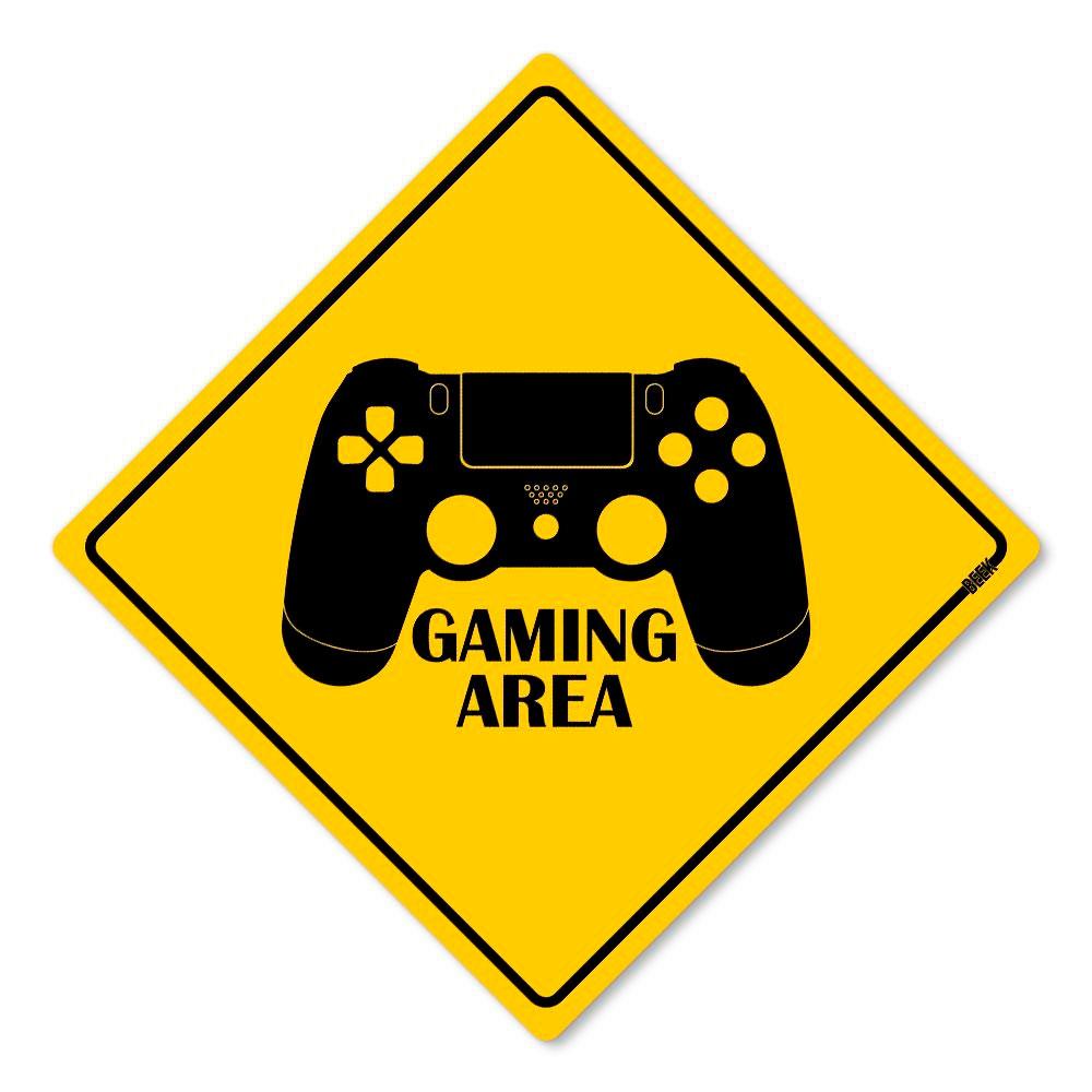 Placa Decorativa 30x30 Gaming Area PS4