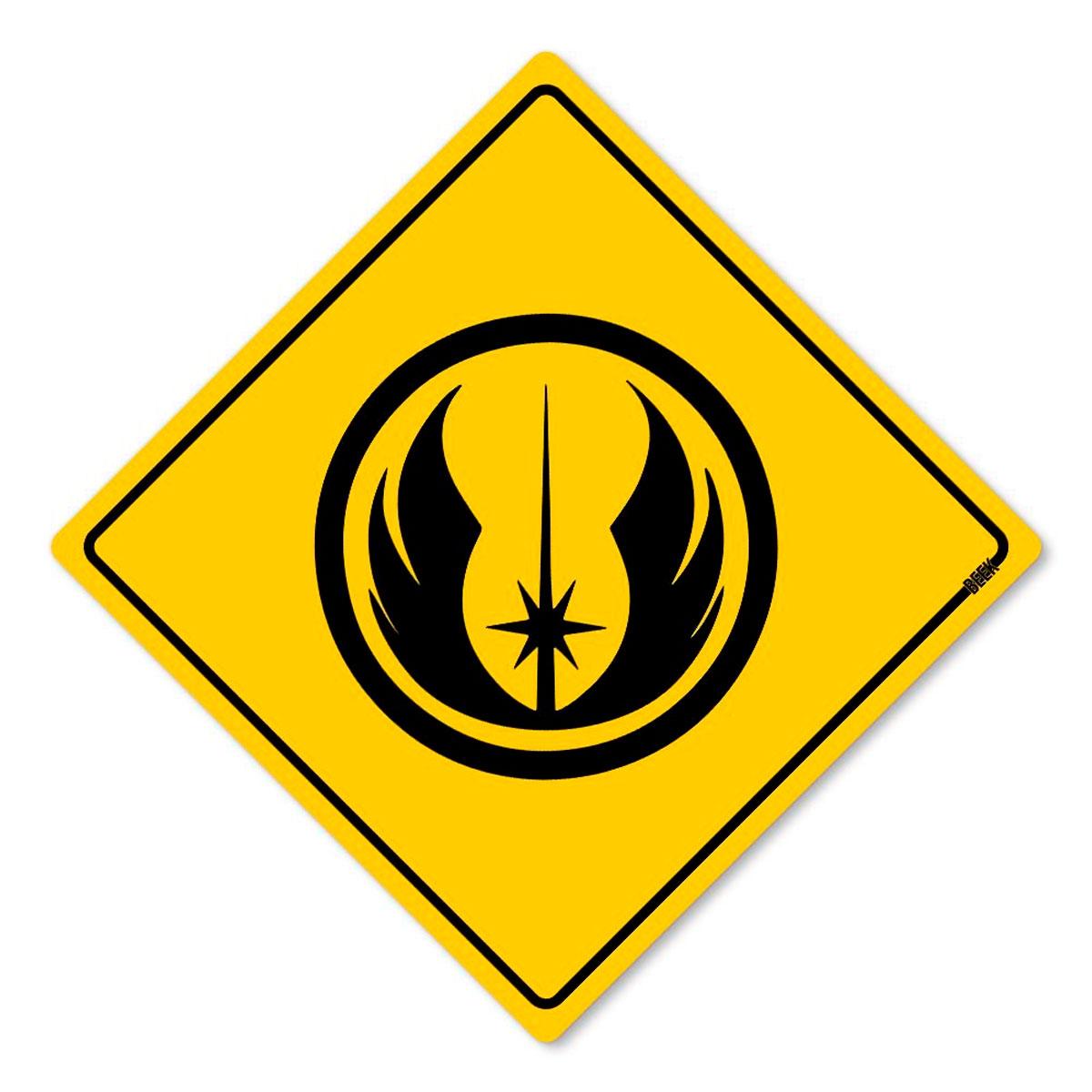 Placa Decorativa 30x30 Sinalização Jedi Star Wars - Presente Super