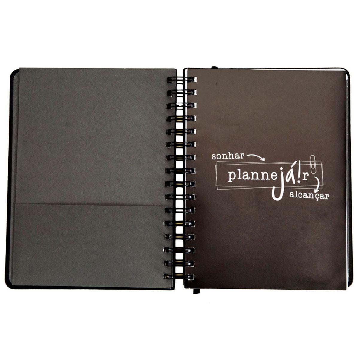 Planner Anual Preto Planejar - Presente Super