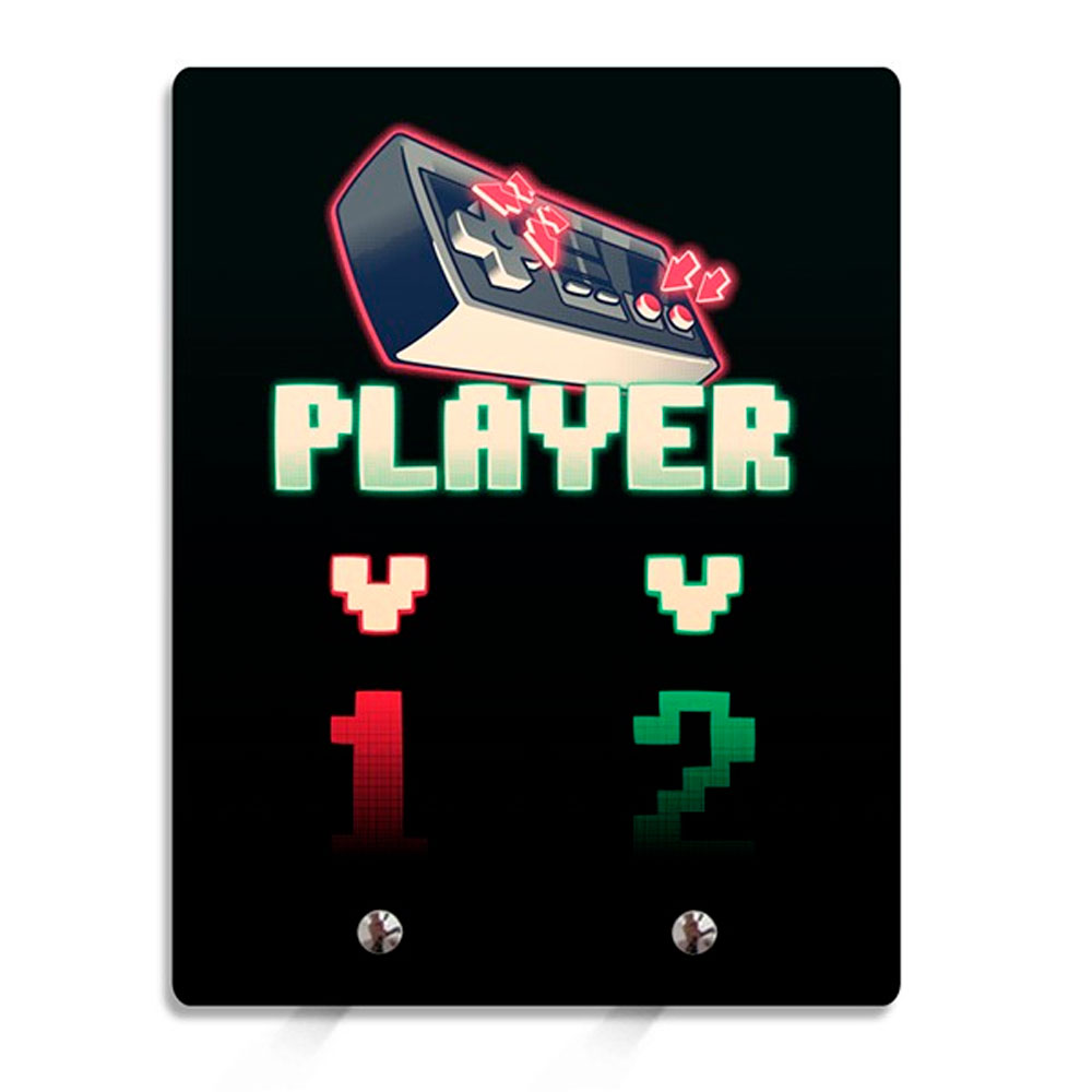 Porta Chaves Player 1 Player 2 Gamer 8 Bits