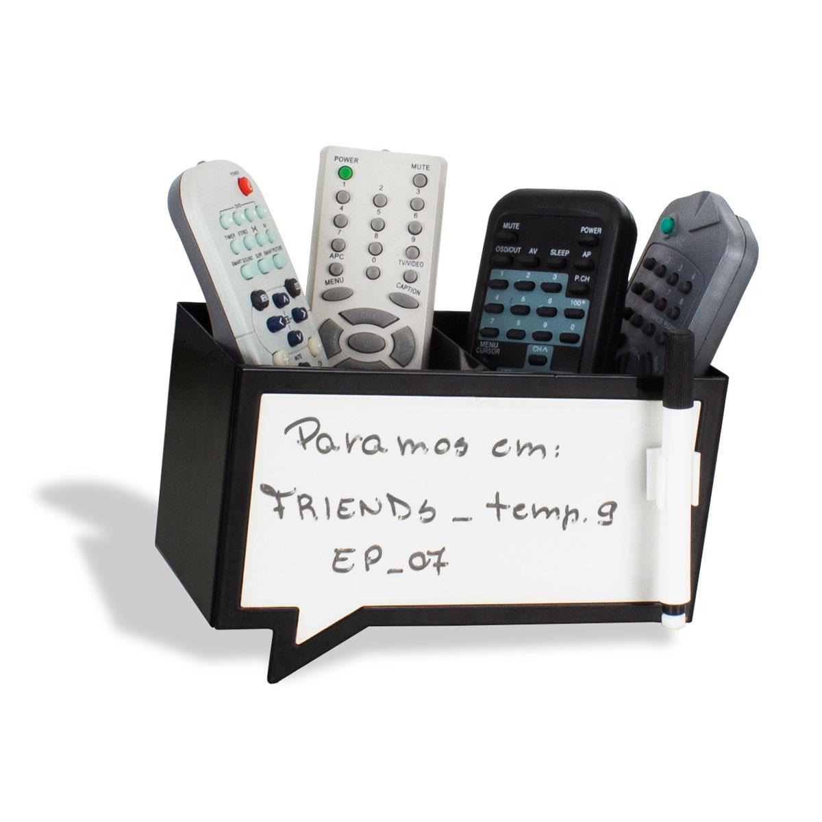 Porta Controle Balão de Fala Escreve e Apaga com Caneta - Presente Super