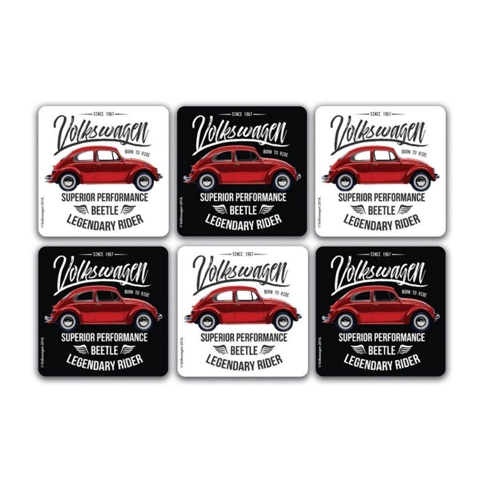Porta Copos Fusca Vermelho Clássico Volkswagen