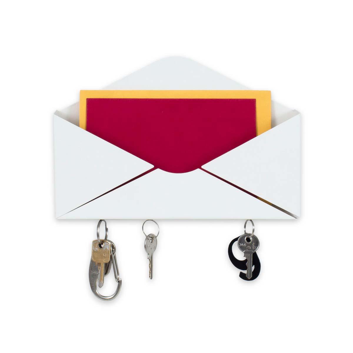 Porta Chaves e Correspondências Envelope Branco