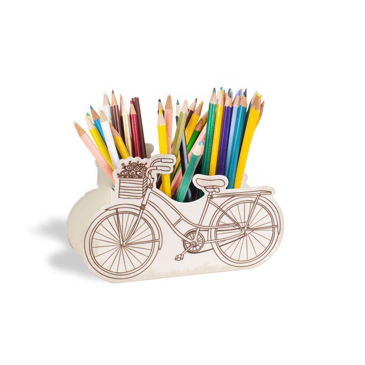 Porta Lápis Caneta E Acessórios Bicicleta Paris - Presente Super