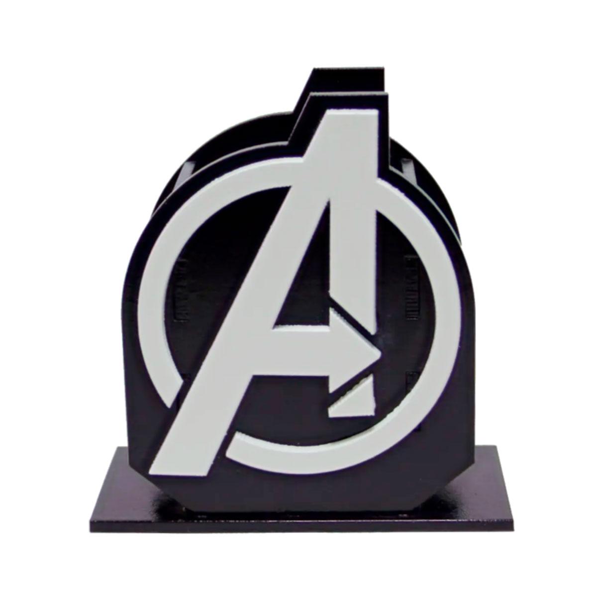 Porta Lápis Caneta E Acessórios Geek Avengers Vingadores 10x10cm - Presente Super