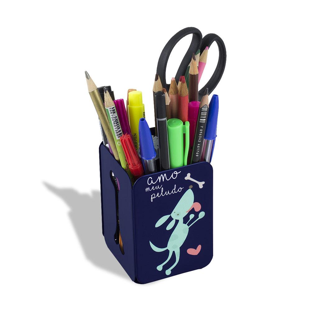 Porta Lápis Meu Peludo - Azul