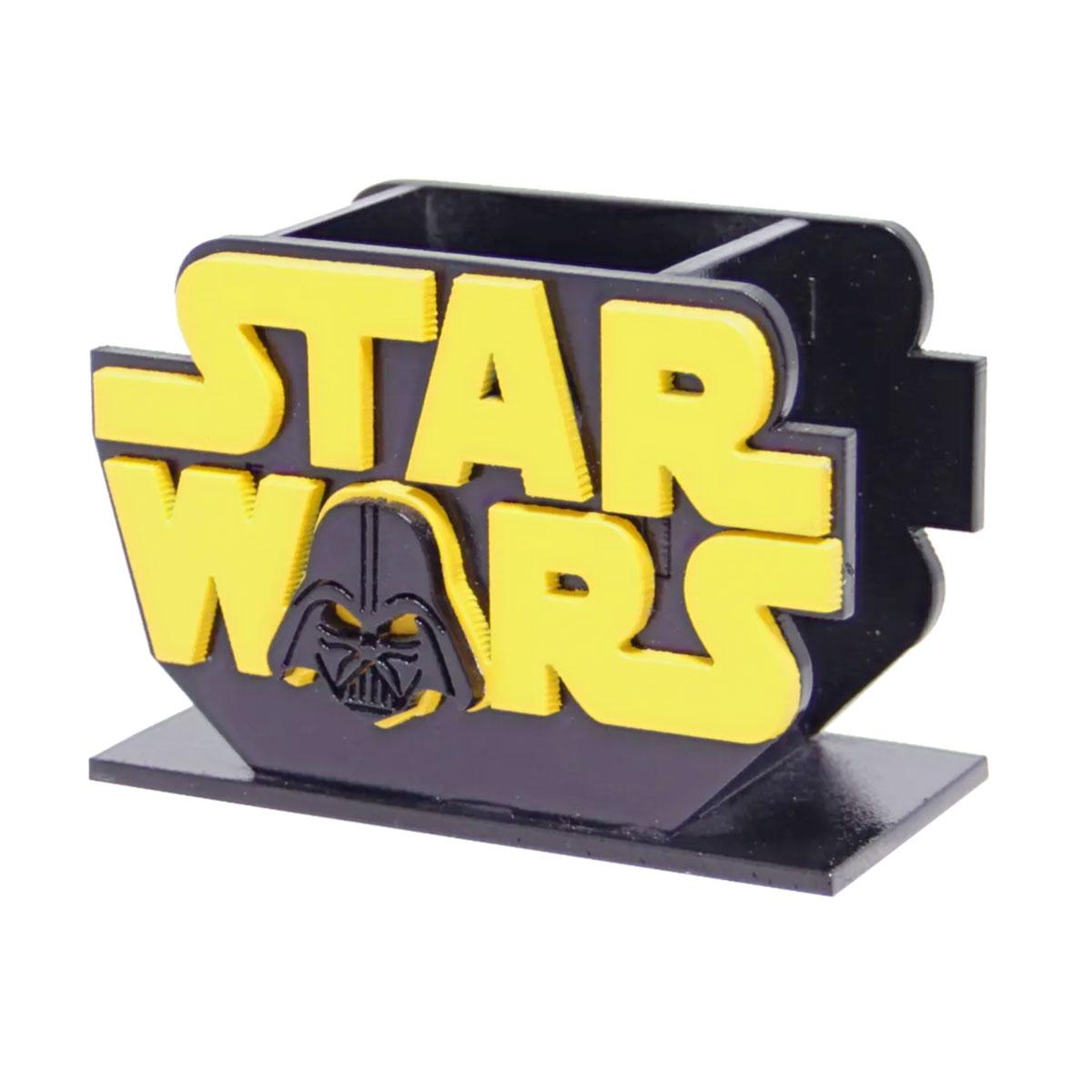 Porta Lápis Caneta E Acessórios Geek Star Wars Darth Vader 10x10cm - Presente Super