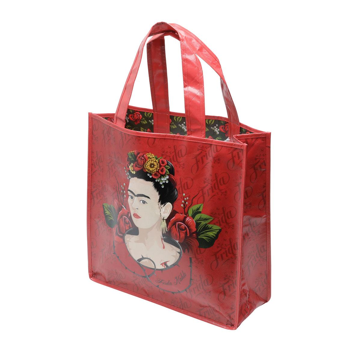 Sacola Reutilizável Frida Kahlo Red Roses - Presente Super