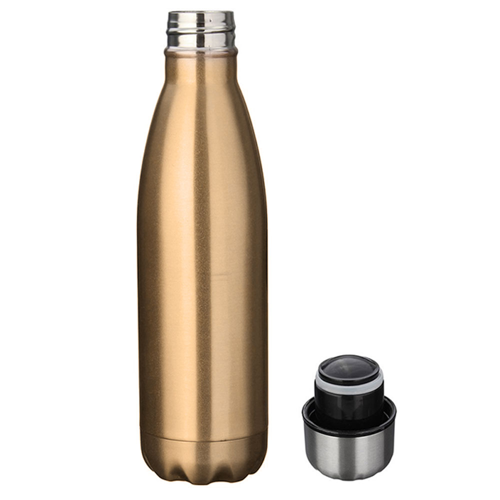 Squeeze Térmico Retro 500ml - Cantil Dourado