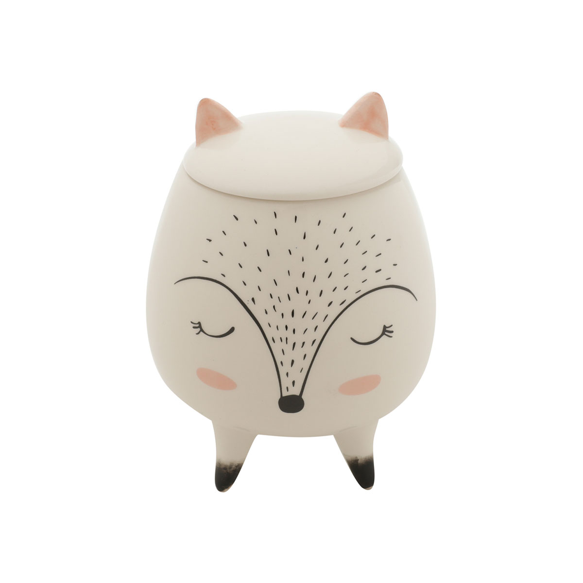 Vaso Potiche Decorativo Cerâmica Raposa Sleeping Fox - Presente Super