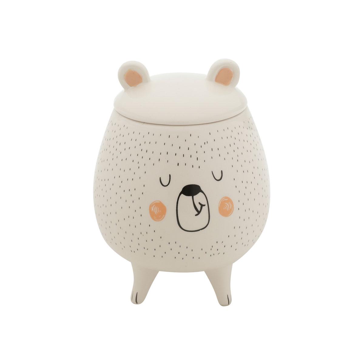 Vaso Potiche Decorativo Cerâmica Urso Sleeping Bear - Presente Super