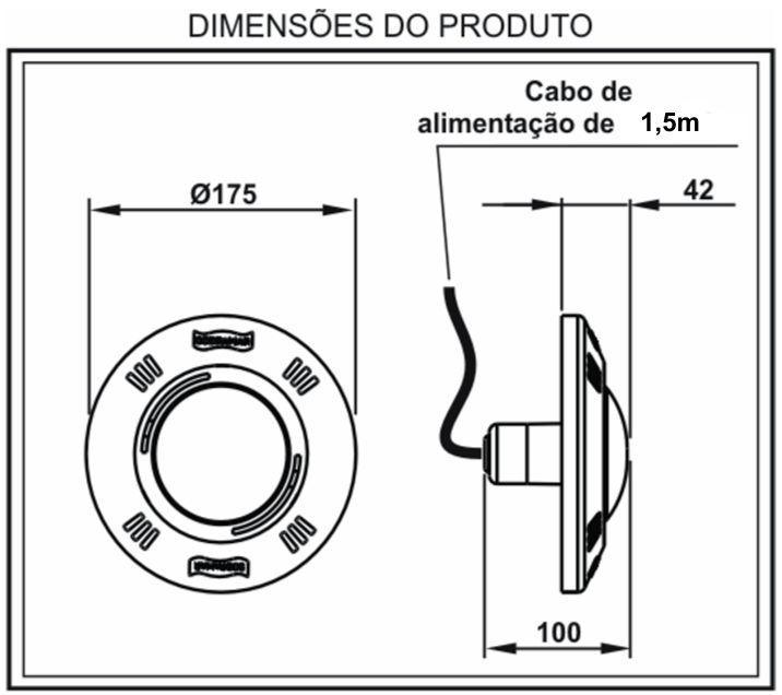 Dimensões Refletor LED Pratic 61