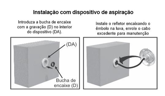 Instalação no dispositivo de aspiração