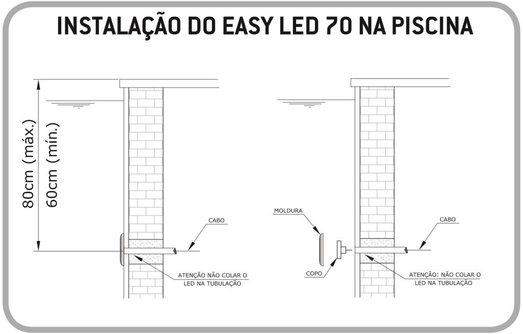Fixação Alvenaria Easy LED 9W Light Tech