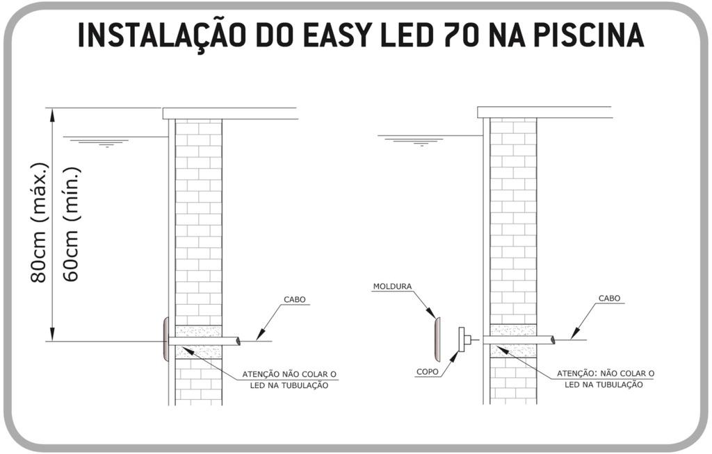 Fixação Alvenaria Easy LED 9W Light Tech
