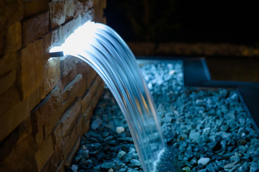 LED Cascata Iluminada Piscina