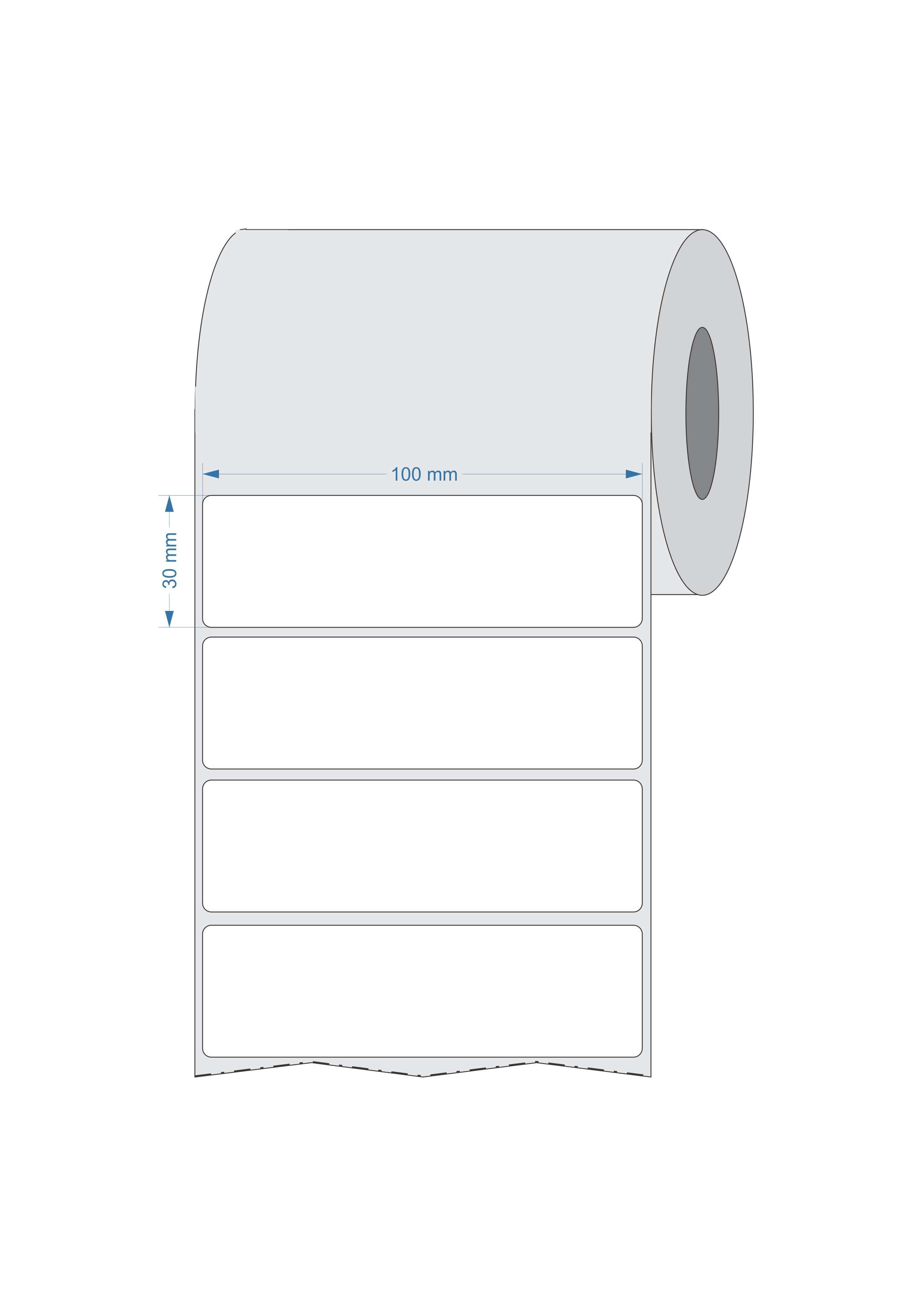 Etiquetas Adesivas 100x30