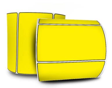 Etiquetas Adesivas 100x50 - Amarela