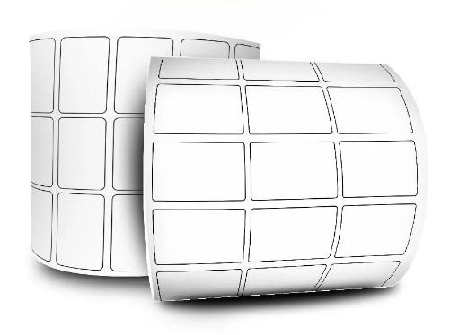 Etiquetas Adesivas Papel Couchê 33x22