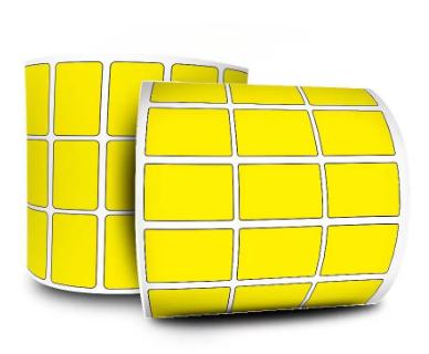 Etiquetas Adesivas 33x22 - Amarela