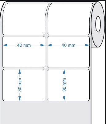 Etiquetas Adesivas 40x30 - 2 Colunas