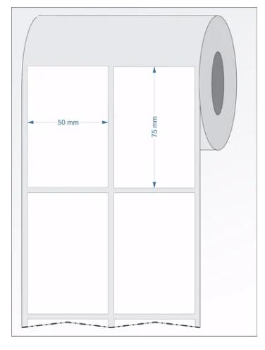 Etiquetas Couchê 50x75 - Não Adesiva