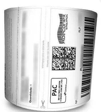 Etiquetas Adesivas - Mercado Livre - 100x175 com cabeçalho