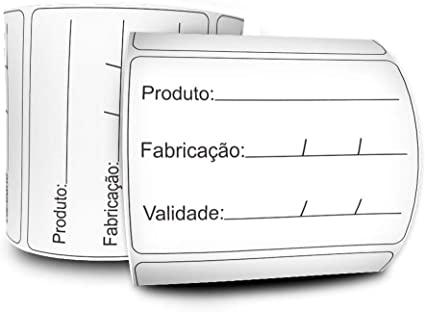 Etiquetas Adesivas Prazo de Validade 3 Linhas 60x40
