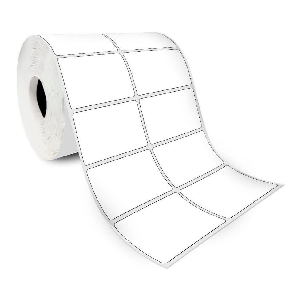 Etiquetas Adesivas para Laboratório Papel Couchê 50x30