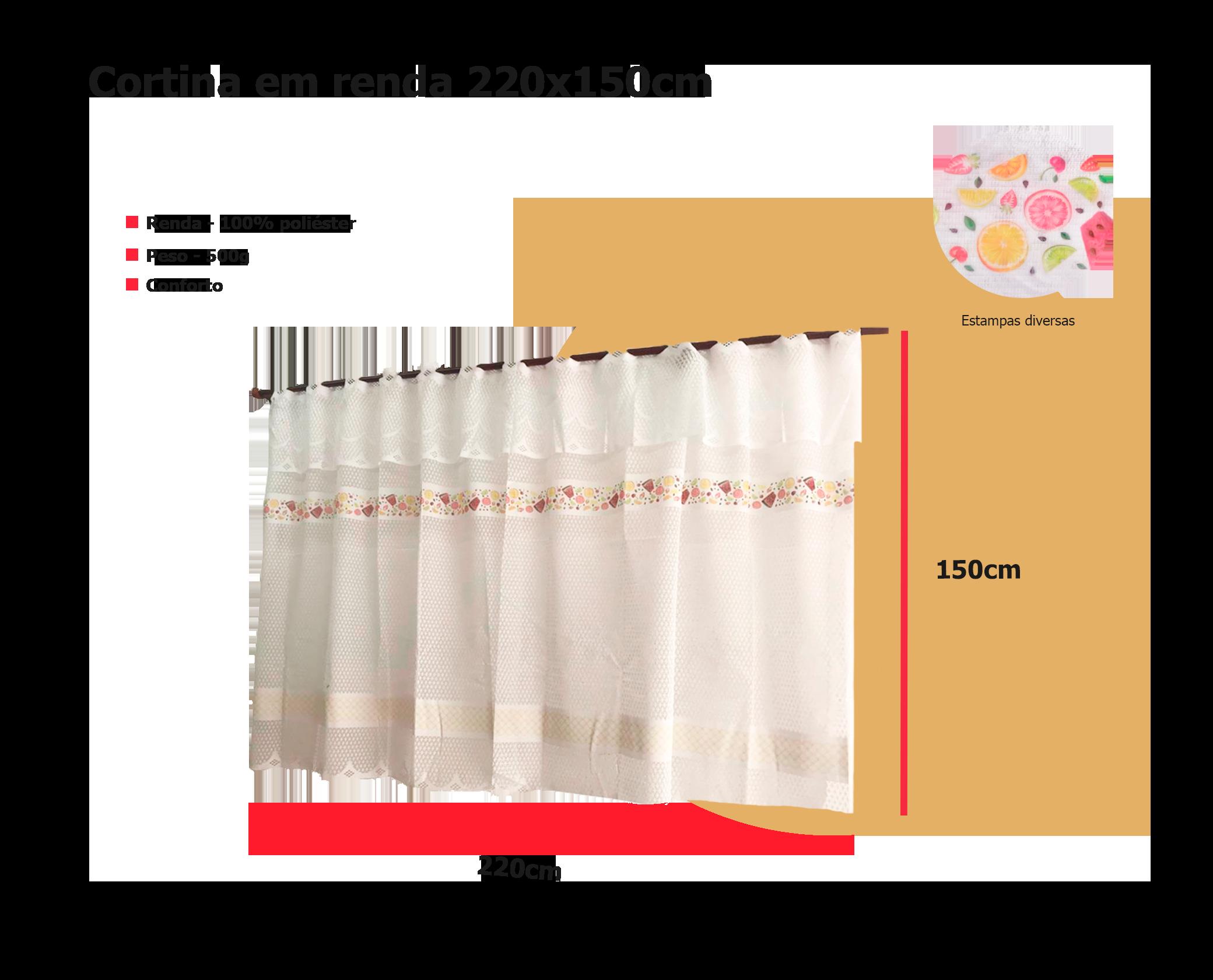 banner descritivo de cortina de renda