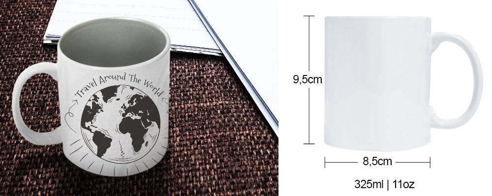 caneca para sublimação  com interior perolizado na cor prata