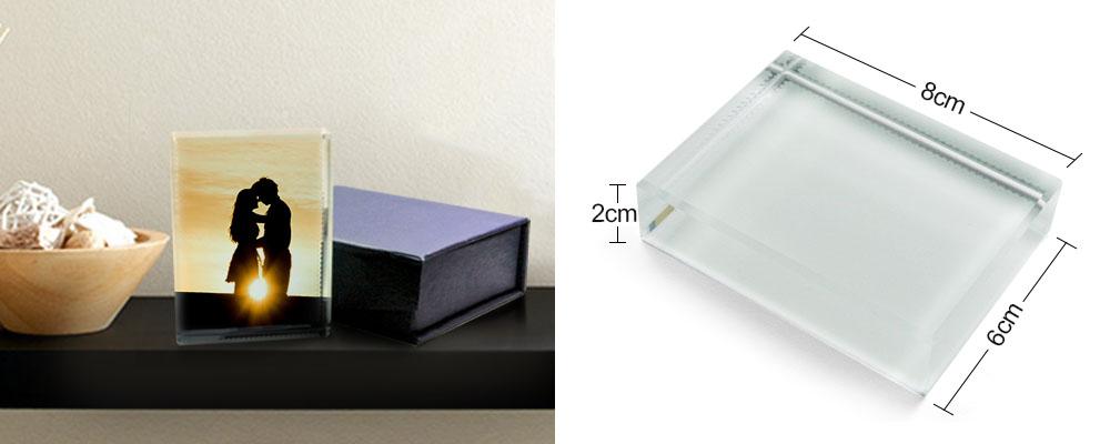 cristal retangular para sublimação