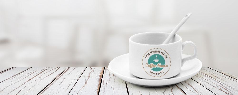 conjunto xícara de café para sublimação