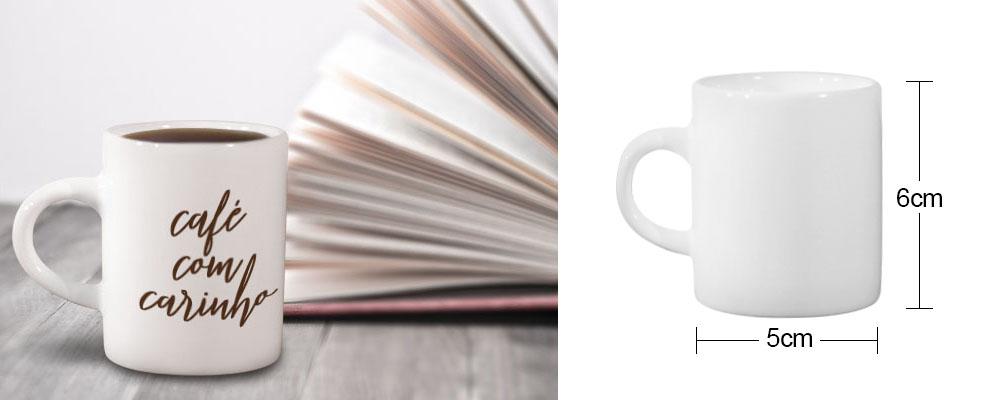 Xícara de café de 3oz para sublimação medidas