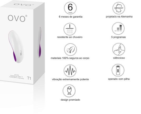 Vibrador T1 Ovo Lifestyle - White Violet