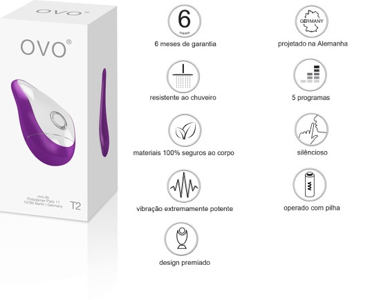 sex shop Vibrador T2 - Violet - Ovo Lifestyle