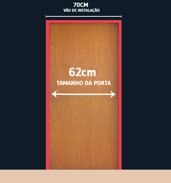 Porta de madeira Portello