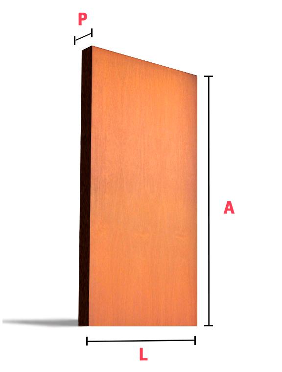 Porta de madeira lisa portello