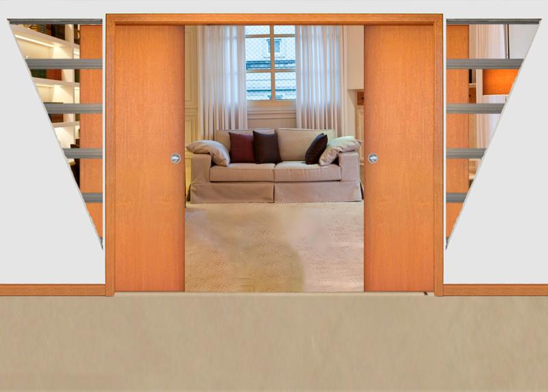 Sistema de embutir portas Portello