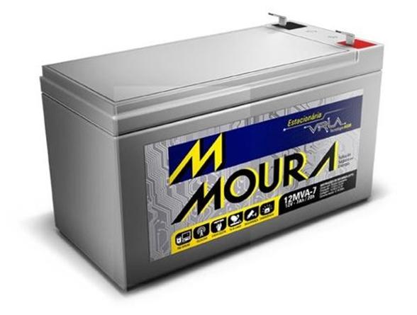 Bateria 12v 7a Moura Estacionária Vrla Nobreak Alarme Cerca
