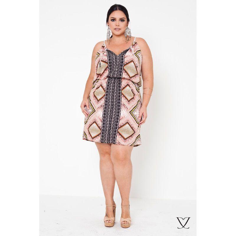 Vestido De Alça Plus Size