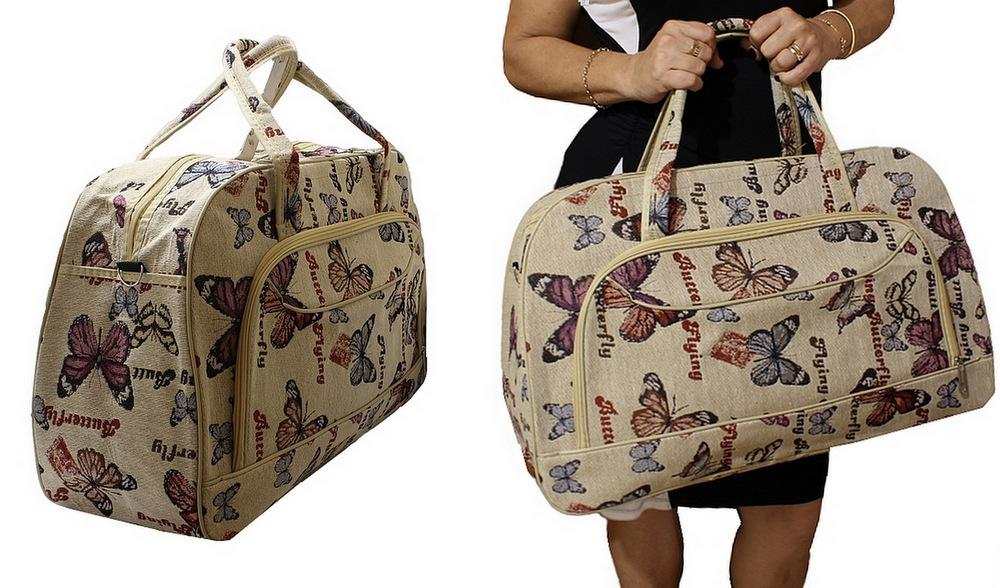 Bolsa De Mão Viagem Internacional : Ditudotem mala bolsa de m?o viagem grande borboleta