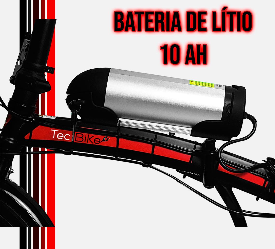 Bateria de Lítio 10 ah - autonomia de 30 a 40 km